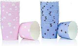 WENTS Caissettes Papier Cupcakes 100PCS Caissettes Cupcake Papier pour Muffins Gateau Moule Decoration Cupcakes en Papier ...