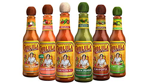 Cholula Hot Sauce Variety Pack | 6 Pack 5oz Bottles | Original, Green Pepper, Chipotle, Chili...