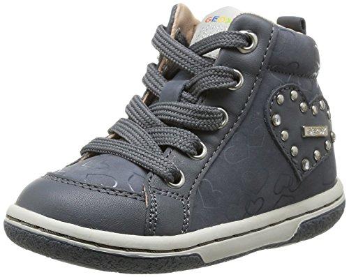 Geox B Flick Girl, Baskets Mode bébé Fille - Gris (DK Grey), 25 EU
