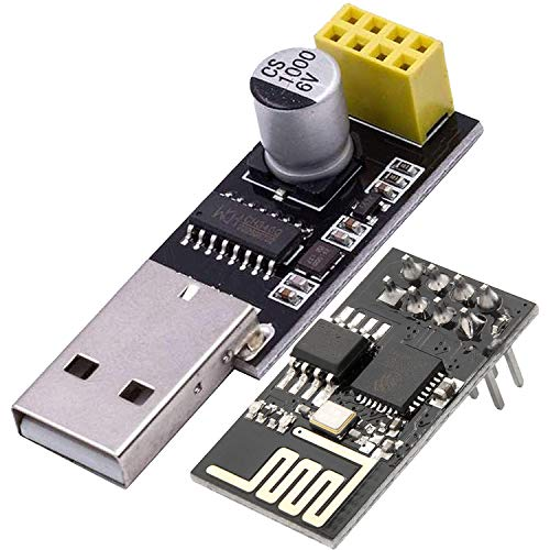 AZDelivery ESP8266 ESP-01S Serial Wireless WLAN WiFi Transceiver Module 1MB Flash 80MHz with CH340G USB Converter Adapter for Arduino Raspberry Pi Including E-Book!