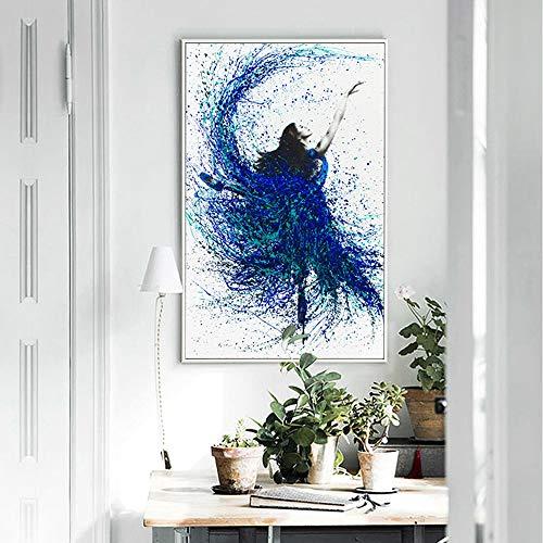 ADGUH Leinwanddrucke Nordische Moderne Kunst-Schönheits-Segeltuch-Malerei für schwarzes weißes Wohnzimmer-Plakat-Wand-Dekor