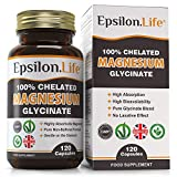 Epsilon Magnesium Glycinate - Pure, 100% Chelated Mag Bisglycinate - 120 Easy to