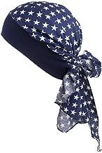 Turbantes Pañuelos Cabeza Mujer de Satín para Cáncer, Sombrero de Pirata (D)
