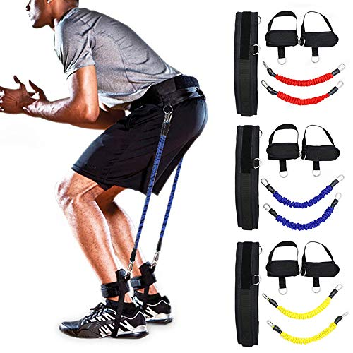 LOKE Vertical Jump Trainer Bounce Trainer Training Device, Leg Strength Training Bands for Agility, Strength Speed Fitness Basketball Volleyball Football,Blue