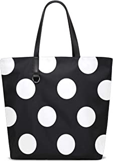MONTOJ Damen-Handtasche mit schwarzen und weißen Punkten