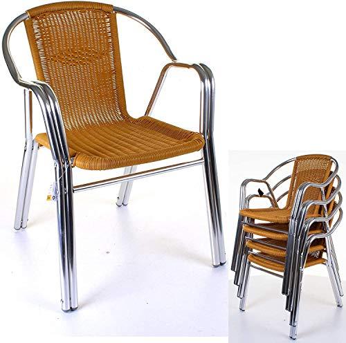 FMXYMC Exterior de Aluminio Resistente Bistro Sillas de Estructura Ligera Doble del café del Restaurante de Asiento para Patio Jardín Piscina Terraza,A