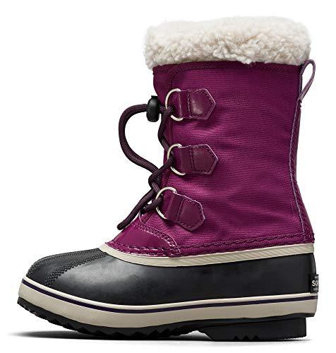 SOREL Children's Yoot Pac Nylon Boot — Wild Iris, Dark Plum — Waterproof Winter Boots — Size 12