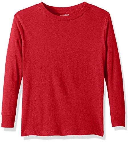 Puma Men's City Long Sleeve Blank Tee, Youth Medium, Red