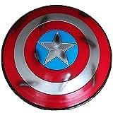 Getrichar Capitán América Disfraz Escudo 1: 1 Batalla de plástico versión dañada superhéroe Accesorios de Cosplay Decoraciones de Barra Adulto Talla única 22 Pulgadas