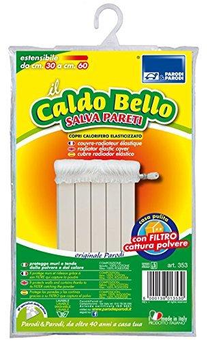 Parodi&Parodi Caldo Bello – elastische radiatorafdekking beschermt muren en gordijnen perfect tegen het opstijgende stof van de radiator, uittrekbaar tot 60 cm, kleur: ivoor, art.nr.: 353