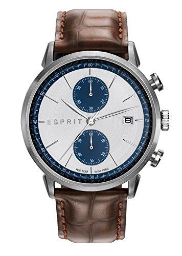 Esprit Herren Chronograph Quarz Uhr mit Leder Armband ES109181001