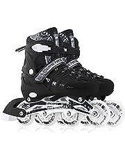 Heren dames instelbare inliner inline skates, maat 43-46 unisex fitnessschaatsen voor volwassen wielen rollende schoenen voor jongens meisjes beginners