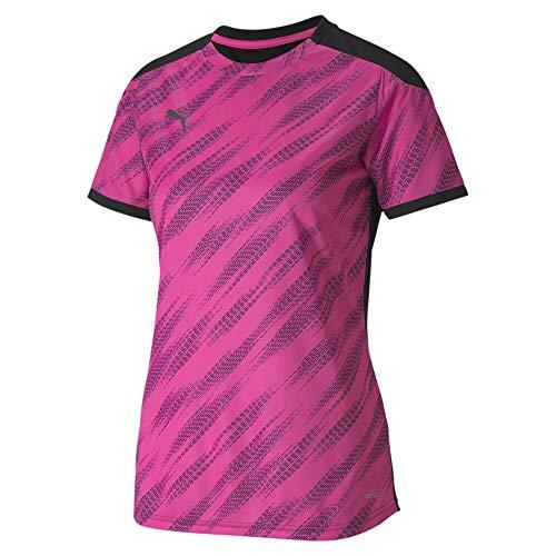 PUMA Damen ftblNXT Graphic Shirt W T Black-Blue Glimmer-Luminous Pink, M
