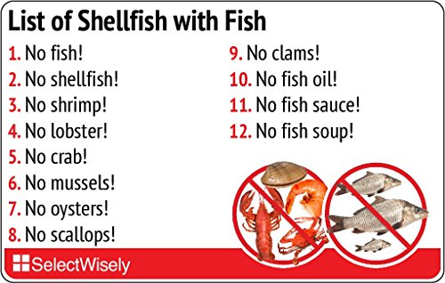 List of Shellfish with Fish - Translated in Russian or Any of 36 Languages