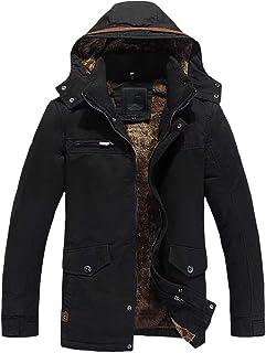 Giacca Uomo Cappotto Parka 100% Cotone Giacca Invernale Antivento Taglie Comode Cappotto Cappotto Uomo Giacca Uomo Giacca ...