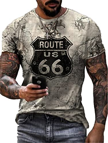 SSBZYES Maglietta da Uomo Maglietta Estiva da Uomo a Maniche Corte Taglie Forti Maglietta Girocollo da Uomo Maglietta da Uomo Maglietta Sportiva con fondotinta
