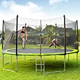 Best Trampolines - Merax Trampoline 14FT with Enclosure Net, Circular Trampolines Review