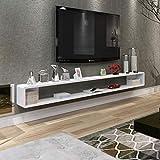 Prateleira flutuante de TV montada na parede Gabinete de TV Prateleira de parede Prateleira decorativa para TV Console Set Top Box DVD Player prateleira de armazenamento (cor: PRETO, Tamanho: 100cm)