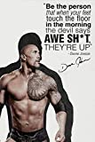 Dwayne Johnson quote Foto gedrucktes Poster –