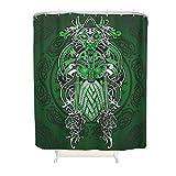 Knowikonwn Viking cortina de ducha de calidad de hotel, ojales reforzados, anillos de cortina de baño incluidos, para bañera, color blanco 2, 120 x 200 cm