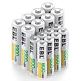 EBL 16pcs 1.2V AA AAA Ni-MH Batterie Ricaricabili Combinate, Confezione 8 X 2300mAh AA Pile Ricaricabili & 8 X 800mAh AAA Pile Ricaricabili