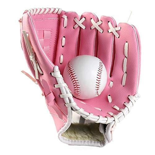 1pc Sport Baseball Und Softball-handschuh Profi-Baseball Und Softball-handschuh Mit Weichen Festen Pu-Leder Eindickung Pitcher Für Kinder & Erwachsene (rosa, 9,5 Inch)