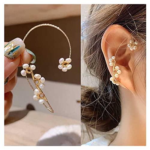 Hawtrytoa Vintage Ear Cuff Earrings Wrap Around,Ear Cuffs for Women Non Piercing Earrings Purely Handmade,Non-Piercing, Clip-on Vintage Design