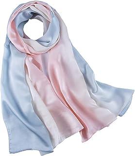 70154deaa05 pañuelo de seda Mujer 100% seda Mantón Bufanda Moda Chals Señoras Elegante  Estolas Fular 70