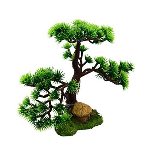 Balacoo Artificial Pine Tree Resin Plant Decor for Aquarium Fish Tank Bonsai Ornament