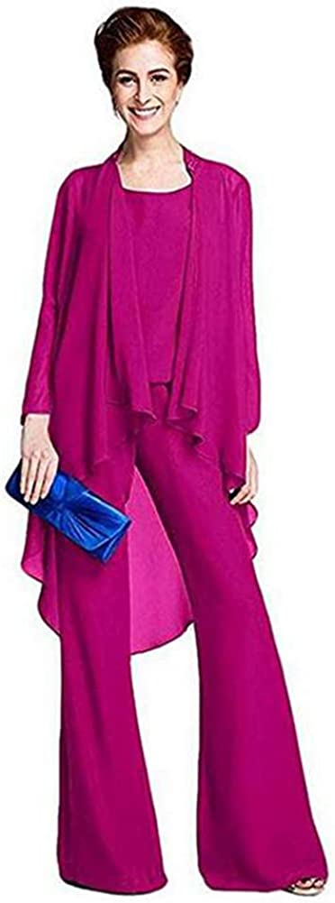 Women's Three Pieces Fuchsia Chiffon for High material Outfit Size Plus Mother Max 41% OFF