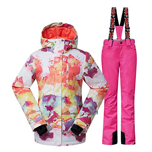 Gsou Snow JSGJHXFWomen Sneeuwjassen en -broeken snowboardkleding outdoor-sporten skipak set waterdicht winddicht Gsou Snow