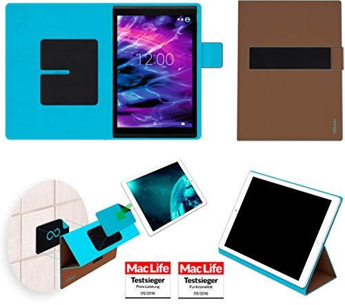 Hülle für Medion Lifetab X10311 Tasche Cover Case Bumper | Testsieger | Braun