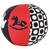 Juguete del sonajero de la bola del bebé, bola sensorial de la felpa colorida pequeña fácil de agarr...