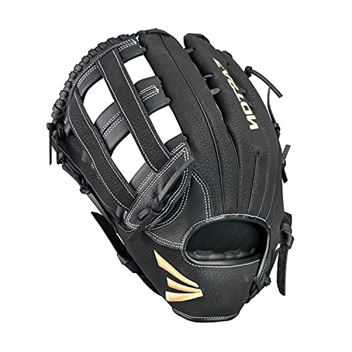 """EASTON PRIME Slowpitch Softball Glove   2020   Left-Hand Throw   14""""   All Position Glove   H Web   Prime Cowhide Leather   Super Soft Palm Lining Enhance Grip + Comfort   Deep Pocket   PM1300SP"""