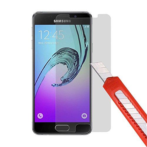 Preisvergleich Produktbild PLT24 Panzer Schutzglas 9H Hartglas Glasfolie Schutzfolie Display Glas kompatibel mit Samsung Galaxy A3 (2016)