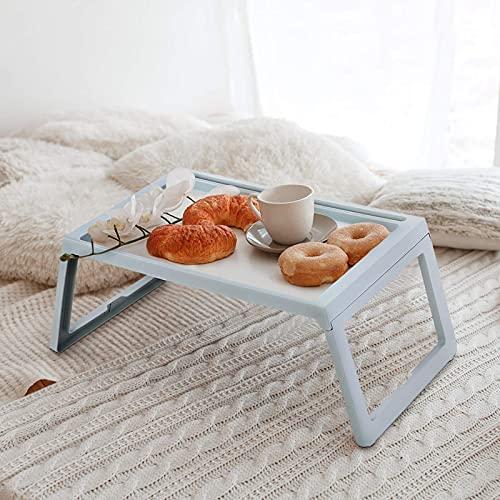 Mesa de Cama Plegable, Bandeja de Desayuno con Patas Plegables, Bandeja de...