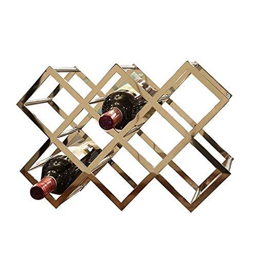 JXS- wine rack Weinregal aus Metall, schön und stabil, für 8 Flaschen Wein, Restaurant, Weingarten, Bar, Zuhause, 40 cm x 15 cm x 27 cm