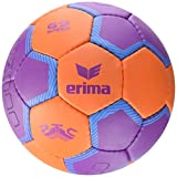 Erima G9 Speed Ballon de Handball Mixte Adulte, Orange/Pourpre, Taille 3