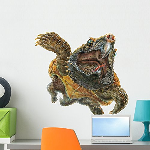 Alligator Snapping Turtle Wall Decal by Wallmonkeys Peel and Stick Graphic (24 in W x 20 in H) WM121872