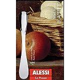 Alessi WA10/37S4 Eat.it, Set di Quattro Coltelli per Burro in Acciaio Inossidabile 18/10, Colore: Argento, Finitura Lucida, 15.0000x3x9 cm, 4 unità