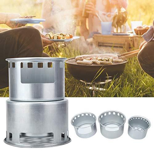 Poêle à bois durable en acier inoxydable poêle à bois résistant à l'usure pour pique-nique de cuisine