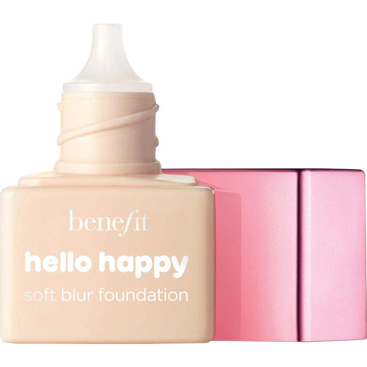 サイドボード深さ摂動[Benefit ] ミニ2 - - ハロー幸せソフトブラー基礎Spf15の6ミリリットルの利益に暖かい光 - Benefit Hello Happy Soft Blur Foundation SPF15 6ml - Mini 2 - Light Warm [並行輸入品]