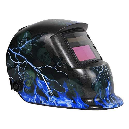 Hoodie Schweißhelm, Motorhaube, solarbetrieben, automatisch, variable Schweißmaske, Abziehbild, Argon, Arc, Schweißkappe, Blitzschädel