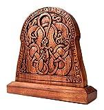 Windalf Wikinger Deko Ragnor Vikings h: 35 cm Bildstein Handgearbeitet aus Holz