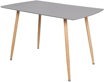 Zons Stockholm Table Salle À Manger L120xl80xH75cm Gris