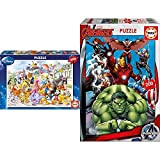 Educa Cabalgata Disney Puzzle, 200 Piezas, Multicolor (13289) + Avengers, Puzzle Infantil De 200 Piezas, A Partir De 6 Años (15933)