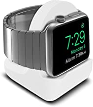 Watch Stand Compatible with Apple Watch Holder, iWatch Nightstand Mode Support Stand with Integrated Cable Management Slot Desk Holder for Series 5/4/3/2/1 44/42/40/38mm (Aluminum Silver)