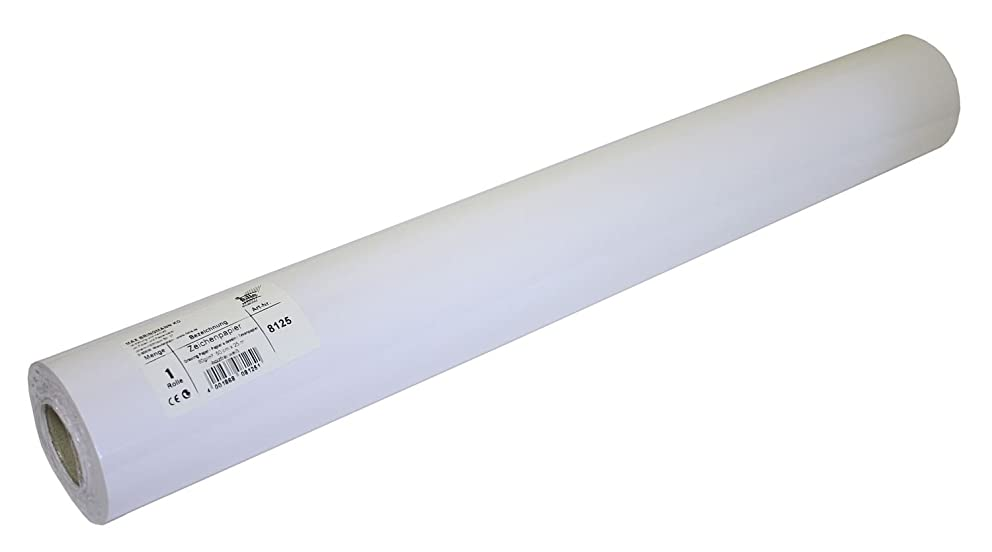 folia 8125????Drawing Paper Roll, 80????g/m2, 50????cm x 25????m (White) by