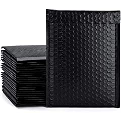Black Bubble Mailers: Usable Size: 6 x 9, pack of 25. These mailers add a pop of color to the mail and stands out from the rest, quite different from the standard one. Your customers will look forward to that charming Black envelope in the mail. Thos...