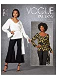 Vogue Pattern V1679E5 Damen-Top E5 (44-46-48), Papier, verschieden, (14-16-18-20-22)